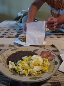 A traditional Mexican Sunday brunch is one reminder of the family's life before they moved to Wisconsin. A UW-Madison study estimates that 90 percent of the immigrant dairy workers are from Mexico. WCIJ/JACOB KUSHNER