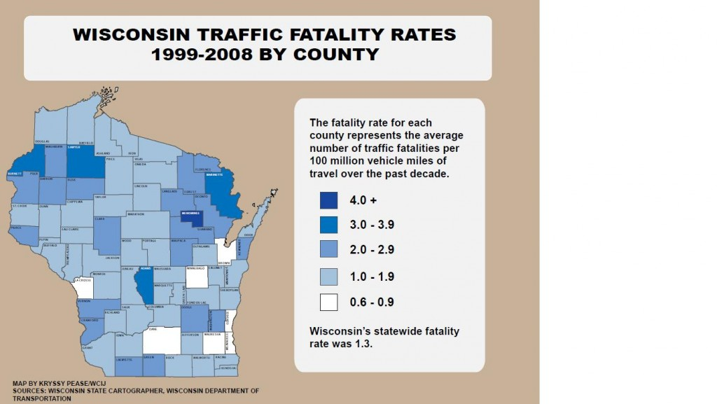Wisconsin traffic fatality rates