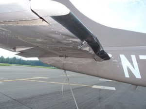 Doug and Karen Drost's deer-crushed plane