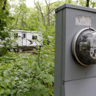 Camping with electricity at Lake Kegonsa State Park, southeast of Madison.