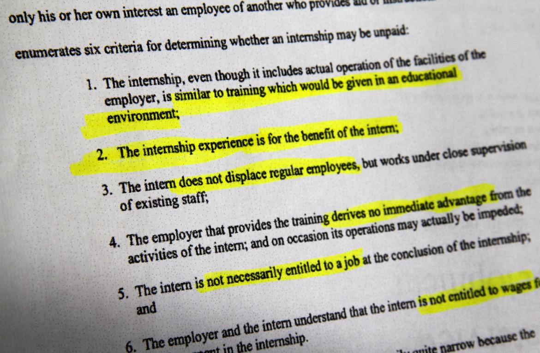 unpaid internships under fire in wisconsin nationwide by matt barnidge 22 2013