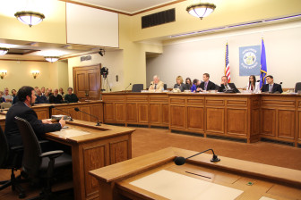 """Rich Budinger, president of the Wisconsin Industrial Sand Association, testified that the proposed legislation would create """"regulatory certainty"""" for industry."""
