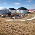 The community digester located near Waunakee is the stateÕs first to process manure from more than one farm. Roughly 100,00 gallons of manure from 2,400 cows on three nearby farms is pumped daily through underground pipes to the digester. Its purpose is to keep phosphorus from polluting the Yahara watershed.
