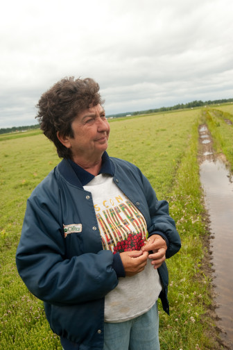 Nodji VanWychen says she's frustrated by the federal government's rejection of a proposal to cut production by 15 percent to help drive up cranberry prices.