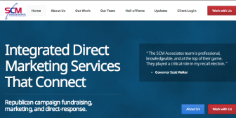 The SCM website includes a testimonial from Walker.