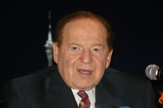 Billionaire Sheldon Adelson at a June 10, 2010, press conference in Hong Kong.