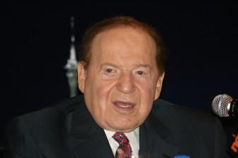 Billionaire Sheldon Adelson at a June 10, 2010, press conference in Hong Kong.