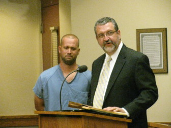 Bradley Erickson was convicted for homicide by drunken driving for a crash that killed three people on a highway near Madison. Erickson was sentenced to 13 years in prison and 15 years of extended supervision. His lawyer attributed the Iraq veteran's decision to get behind the wheel drunk to post-traumatic stress disorder.