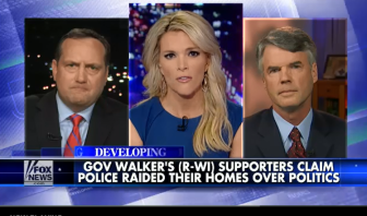 Michael Lutz (left) and Eric O'Keefe on Fox News with Megyn Kelly