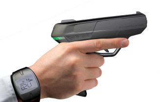 The Armatix iP1 is a so-called smart or childproof gun. It is activated by a person wearing a wristwatch that emits a radio frequency. Currently, the Armatix is the only such gun available in the nation, says John Hopkins University professor Stephen Teret.