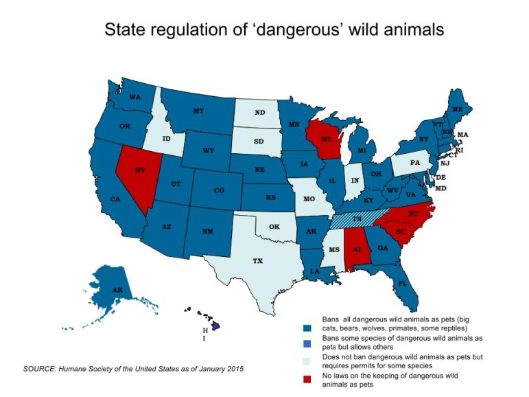 Wisconsin's lax laws when it comes to exotic pet ownership make it a draw for smugglers, advocates of more strict regulation say.