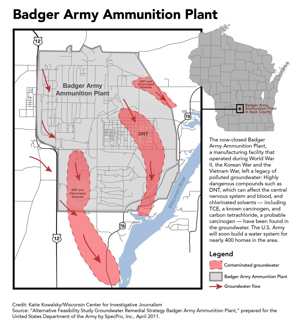 badger ammunition map FINAL
