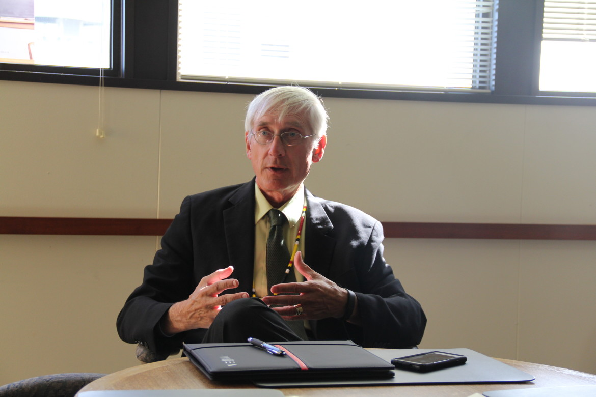 "State Superintendent of Public Instruction Tony Evers, Wisconsin's top education official since 2009, describes the state's racial achievement gap as ""extraordinarily horrible."""