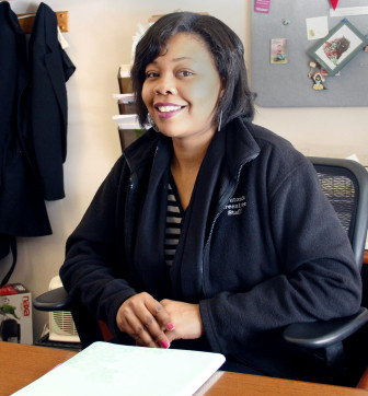 Kanesha Wingo, 28, is the leasing agent at Greentree-Teutonia. With the help of the apartment complexes' on-site learning center, Wingo was able to complete her undergraduate and master's degrees and establish a foundation for herself and 7-year-old daughter.
