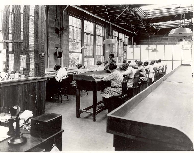 "From 1917 to 1926, U.S. Radium Corp. in Orange, New Jersey, produced glow-in-the-dark products. The plant employed over a hundred workers, mainly women, to paint radium-lighted watches and instruments. Dozens of ""radium girls"" came down with radiation sickness and died, demonstrating the dangers of high-level radium exposure. Low-level exposure in drinking water remains understudied."