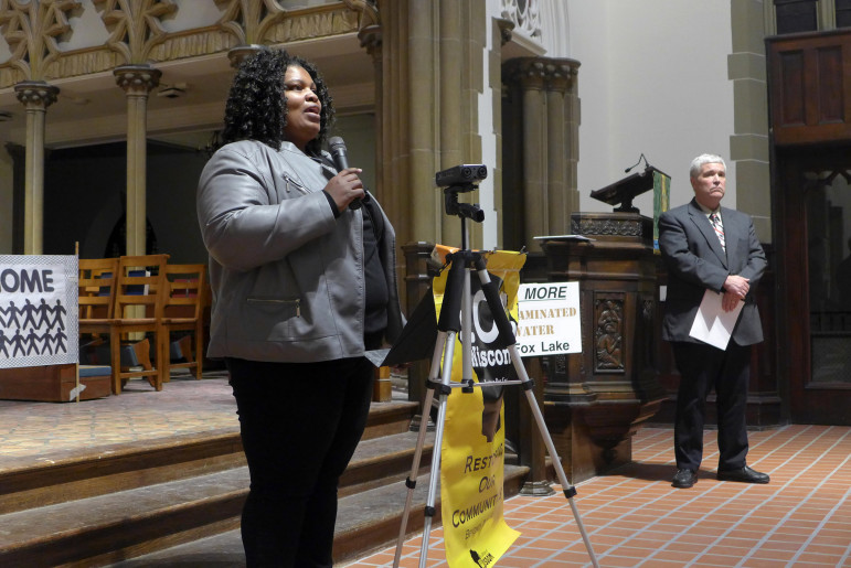"""Beverly Walker, whose husband, Baron, is serving time at Fox Lake Correctional Institution, told a Madison gathering organized by the faith-based advocacy group Wisdom in February that she has heard """"horror stories"""" from inmates about the water. She said her husband buys bottled water from the prison canteen at Fox Lake."""