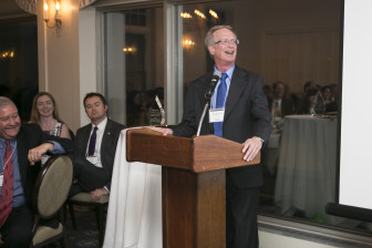 Attorney Robert J. Dreps, recipient of the 2016 Distinguished Wisconsin Watchdog Award, delivered the keynote address at the sixth annual Watchdog Awards in Madison. As a private attorney, Dreps represented dozens of newspapers and other news media organizations in state and federal cases.