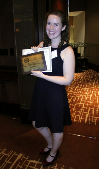 "WPR's Bridgit Bowden, who is embedded in the WCIJ newsroom,  won a gold award for her investigative audio story ""Nitrates Polluting 1 in 5 Private Wells in Wisconsin."""