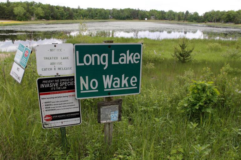 The boat launch at Long Lake, near Plainfield, Wis., no longer reaches the water. In Wisconsin's Central Sands, some lakes and streams have lowered or dried up in recent years as the number of high-capacity wells has mushroomed, largely for irrigation. Concern over drawdown has become a big issue in the 72nd Assembly District race between Republican incumbent Scott Krug and his Democratic opponents, David Gorski and Russ Brown.