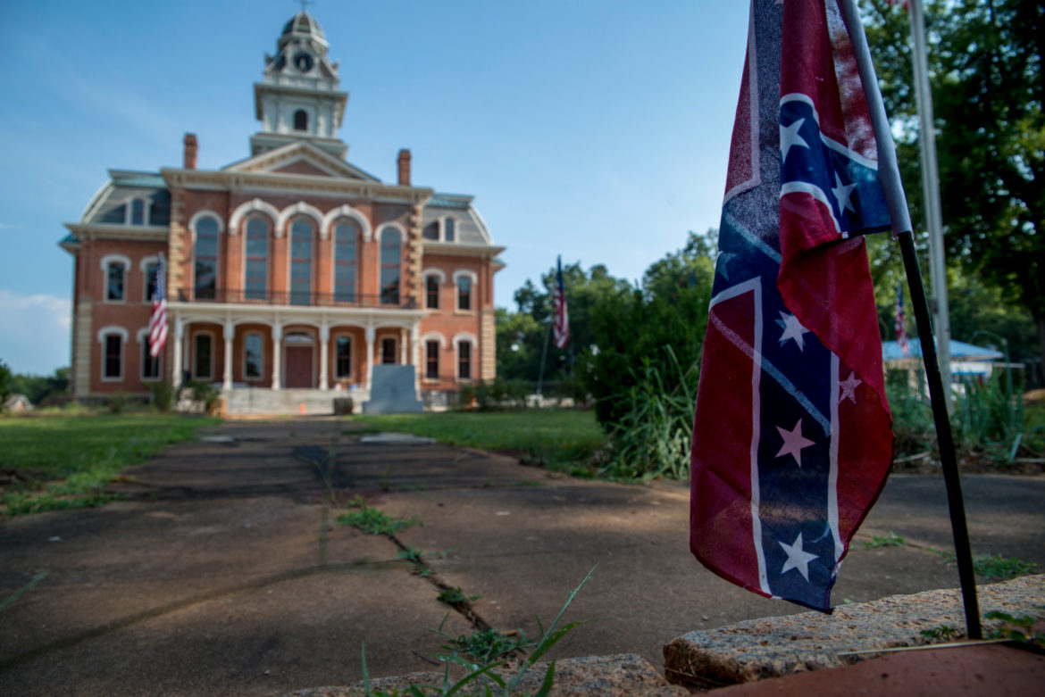 The Hancock County courthouse is in the county seat of Sparta, Georgia. Georgia is among 20 states that added new requirements for voting since the last presidential election in 2012. A U.S. Supreme Court decision in 2013 ended the U.S. Department of Justice's ability to preemptively block voting laws it considers discriminatory in six southern states including Georgia.