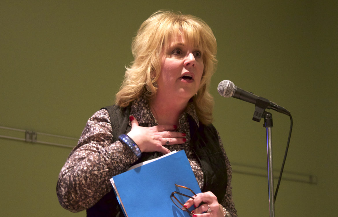 "Department of Natural Resources Secretary Cathy Stepp, seen here in a 2015 file photo, said the spike in lead poisoning among children in Flint, Michigan, convinced her Wisconsin must take strong action to reduce the risk of lead in drinking water. ""If it costs a lot of money to do that, then it costs a lot of money to do that,"" Stepp said during a symposium Sept. 7, in Milwaukee."