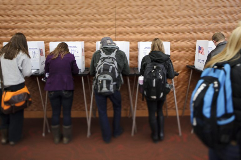 Eligible students vote during the most recent presidential election at Gordon Dining and Events Center on the University of Wisconsin-Madison campus on Nov. 6, 2012.