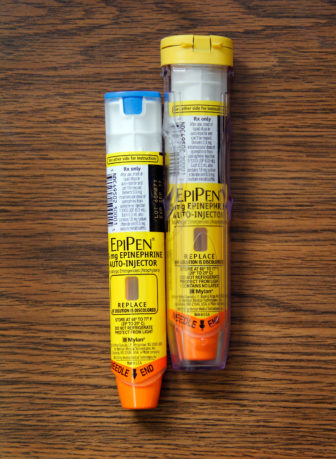EpiPens are self-injectable devices that contain epinephrine. The auto-injectors counteract potentially life-threatening allergic reactions. EpiPens, which come in packs of two, have risen sharply in price and now retail for about $600.