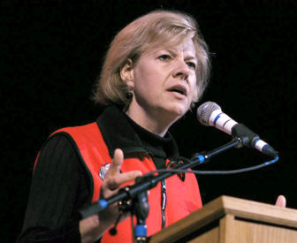 Sen. Tammy Baldwin, seen in this file photo, has introduced legislation requiring drug companies to alert the federal government before increasing a product's price by 10 percent or more.