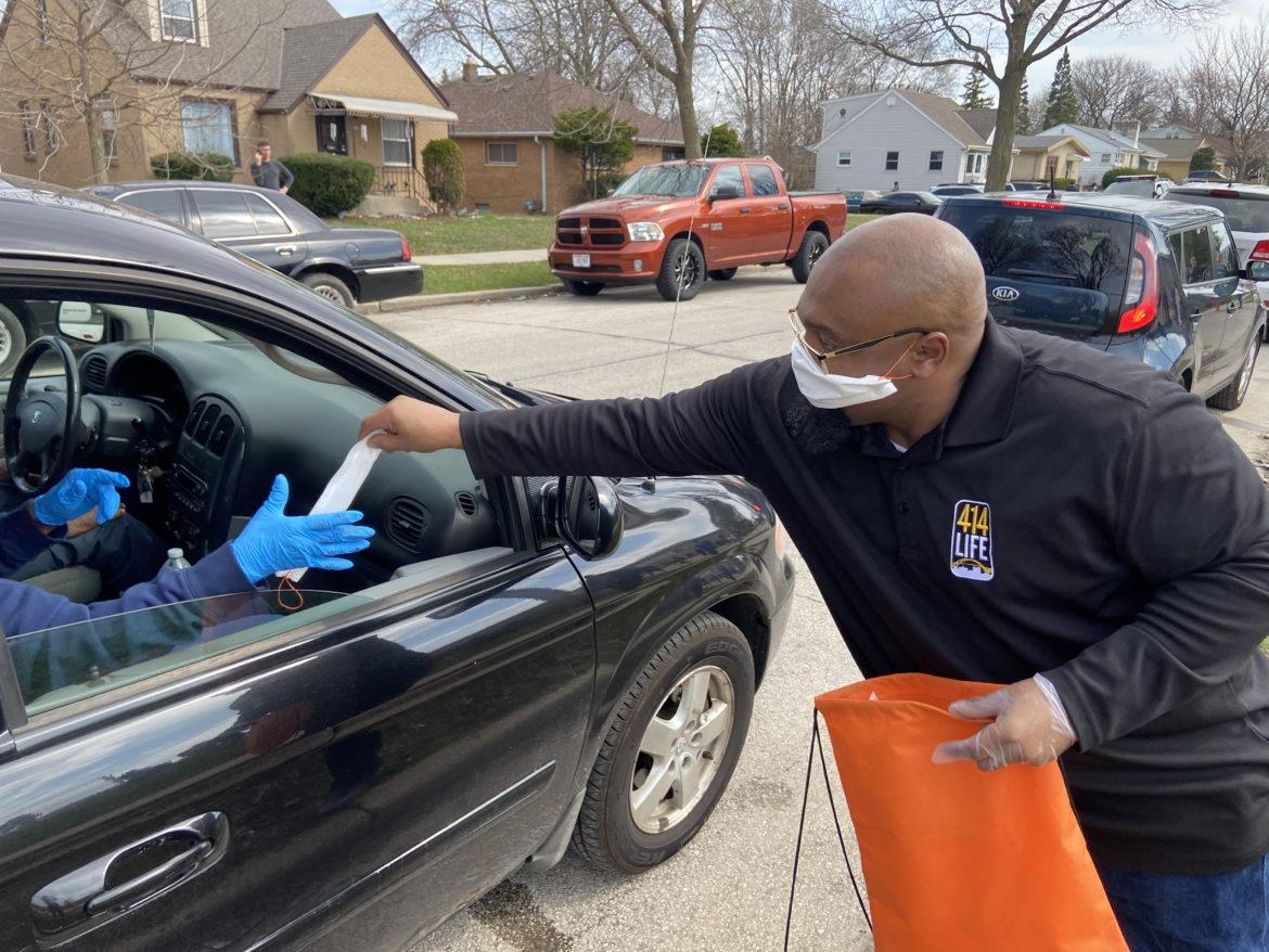 The Milwaukee Office of Violence Prevention and 414 Life, a violence-prevention program based in Milwaukee neighborhoods and hospitals, distributed 1,500 masks to voters at the five polling stations in Milwaukee during Wisconsin's April 7, 2020 election during the coronavirus pandemic. The masks were provided by the Medical College of Wisconsin and Unite MKE from materials donated by Rebel Converting, a Port Washington company that produces hospital disinfectant wipes.